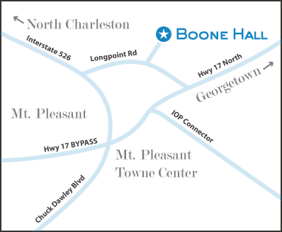 Boone Hall Map